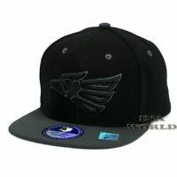 Mexican hat Hecho En Mexico Eagle Aguila Pique Snapback Baseball cap- Black/Gray
