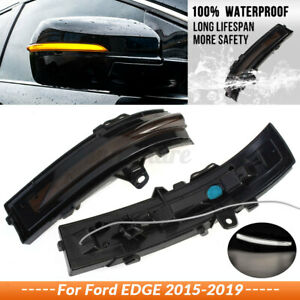 LED Dynamic Mirror Turn Signal Light Side Door Indicator For Ford EDGE 2015-2019