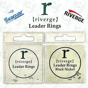 Riverge LEADER RINGS Silver Black SEAGUAR Fluorocarbon Tippet DROPPER Line Ring