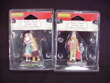 2 Lemax Figurines Man Kissing His Wife & Mother Shopping With Her Son Nib #28