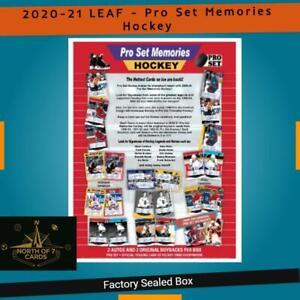 2020-21 (LEAF) - Pro Set Memories Hockey Factory Sealed Box - Presell