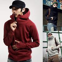 Mens Winter Hooded Zipper Up Jacket Coat Sweatshirt Hoodie Fleece Sweater Jumper