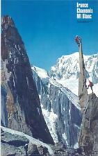 1960's Original Chamonix Mont Blanc Mountain Climbing Colour Photographic Poster