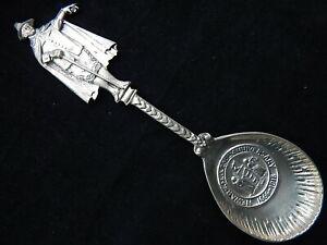 Rare 1666-1916~Newark, NJ 250th Anniversary~Cast Sterling Silver Serving Spoon