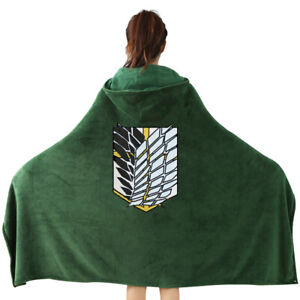 Halloween AOT The Wings of Freedom Flannel Cloak Blanket Cosplay Costume Cape
