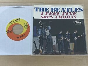 Beatles Original 1964 I Feel Fine Capitol Record Picture Sleeve NM w/45