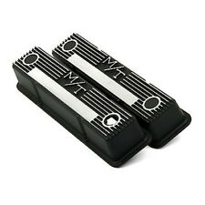 Holley 241-83 M/T Black Aluminum Small Block Chevy Valve Covers