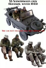 1/35 scale resin model figures kit German E53 two figures (no car)