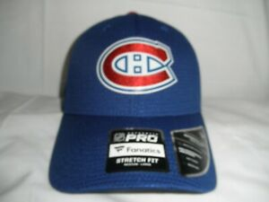 FANATICS AUTHENTIC PRO MONTREAL CANADIENS STRETCH FIT HAT NHL SIZE M/L, NWT'S