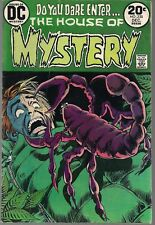 """HOUSE OF MYSTERY #220 DC 12/73 HORROR """"THEY HUNT BUTTERFLIES, DON'T THEY?"""" VG/FN"""