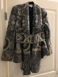 Camilla Constantinople Jacket With Obi Nelt Size 1 (8 -10, Xs - S )