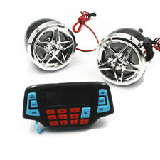 Motorcycle 12v Bluetooth Handfree Audio System FM Radio Stereo Amplifier Speaker