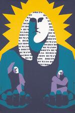 Original Vintage Poster Moradell Human Rights Spain