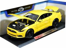 FORD MUSTANG 1:18 Scale Metal Diecast Model Car Models Cars Yellow Toy Car
