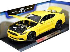 Ford Mustang 1:18 Escala Modelo Diecast Metal Coche Modelos Coches Amarillo Coche De Juguete