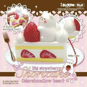 IBloom Squishy Marmo Marshmallow Bear WHITE PEARL Shortcake Cake Squeeze NEW