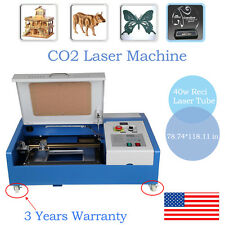 40W CO2 Laser Engraving Cutting Machine Engraver Cutter USB Port