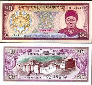 BHUTAN 50 NGULTRUM 1992 P 17 b UNC