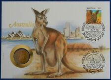 1987 $1 Red Kangaroo Stamp & Coin Cover PNC - Scarce