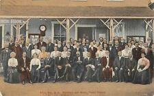 Alton Bay, NH Ministers & Wives, Camp Ground Hand-Colored Vintage Postcard 1914