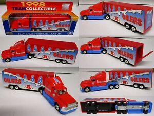 1998 Tennessee Oilers Truck Trailer Metal Die Cast Scale 1:80