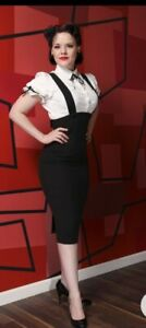 Bettie Page By Tatyana Black Overall Pencil Skirt Size XL