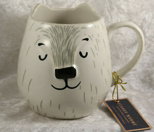 Starry Night ceramic mug cup in shape of a polar bear tagged new