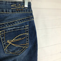 Silver Jeans Suki Capri womens W26 stretch blue distressed med wash skinny denim