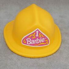 Barbie 1990s Fashion Fireman Firefighter #13553 Mattel Yellow Helmet Hat