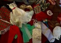Mixed Lot Vintage Doll Clothing Pieces & Accessories for Small Dolls