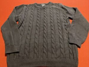 Boys Basic Editions Navy Blue Pullover Sweater SIZE 14/16