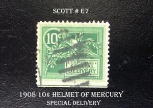 A Great Special Delivery Stamp Scott  #E7 1908 10¢ Helmet of Mercury
