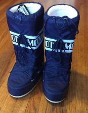 Tecnica The Original Moon Boot Women's Blue Snow Boots US Size: 10/11 EU 42/44