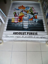AFFICHE ABSOLUT VODKA 4x6 ft Shelter Original Alcohol Advertising Vintage Poster