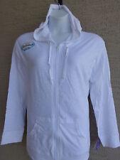 NWT Just My Size Light Weight Slub Clotton Zip Up Hoddie Jacket 2X White