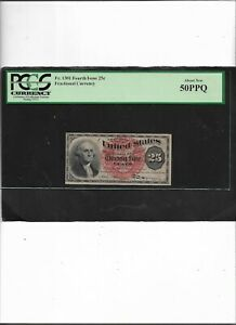 Fractional Currency Fr. 1301 Fourth Issue 25c  About New 50PPQ