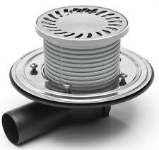 Drain de douche siphon de sol acier inoxydable rond 137 mm DN 50 (381 D)