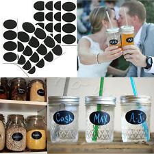 36pcs Mini Chalkboard Blackboard Chalk Board Stickers Decals Kitchen Jar Labels