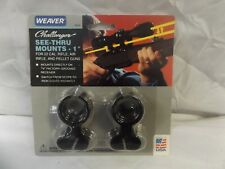 "WEAVER CHALLENGER SEE-THRU SCOPE MOUNTS .22 AIR RIFLE PELLET 1"" 3/8 GROOVED"