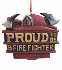 Proud To Be A Fire Fighter Christmas Ornament