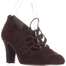 Zip Block Heel Solid Heels for Women