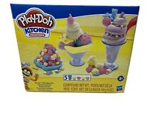 PLAY-DOH KITCHEN CREATIONS: SCOOPS & SUNDAES 17 pc SET: AGES 3+