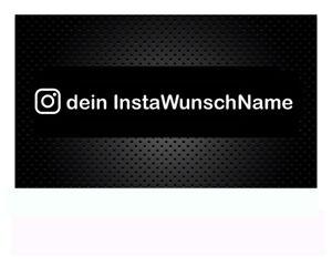 2 x Instagram WUNSCHTEXT Auto Aufkleber Sticker, 15cm oder 20cm Breite  Domain