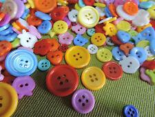 100 bulk Mixed Buttons & Colours Craft Scrapbooking Bouquet 8~23mm Acrylic Resin