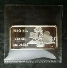 Virginia 1oz Silver Bar