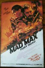 MAD MAX FURY ROAD MOVIE POSTER 1 Sided ORIGINAL Mini Sheet 11x17