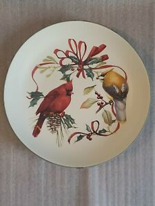NEW Lenox USA Winter Greetings Everyday Cardinal Waxwing Pasta Soup Bowl 9""