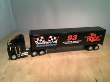 "GOODWRENCH 200 500 ""THE ROCK"" KENWORTH K100E SEMI DIECAST COIN BANK LIBERTY 1:64"