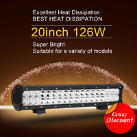 20inch 126W CREE LED Work Light Bar Spot Flood Driving Lamp Offroad 4WD Truck20""