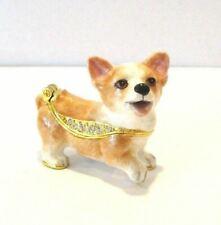 Pembroke Welsh Corgi Puppy Dog Jeweled Trinket Box